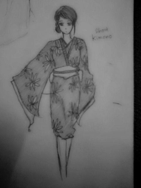 trying short kimono