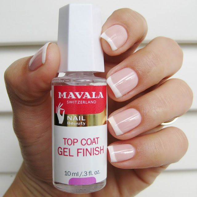 Perfect French manicure with Mavala Credit: Dahlia Nails