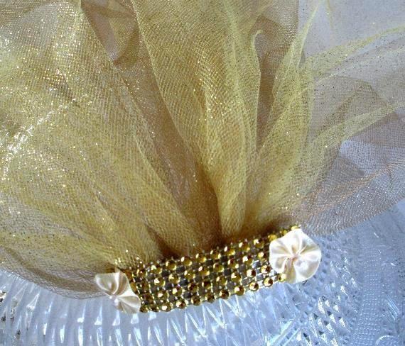 bachelorette veil, bachelorette party veil, bachlorette veil, gold sparkle bridal veil shower, bridal party veil, hen party veil , veil by SuspendedStar on Etsy