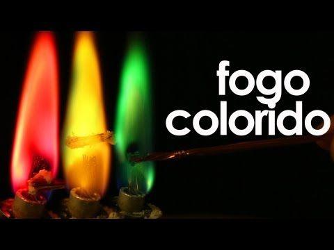 Como fazer fogo colorido (experimento de Química) -