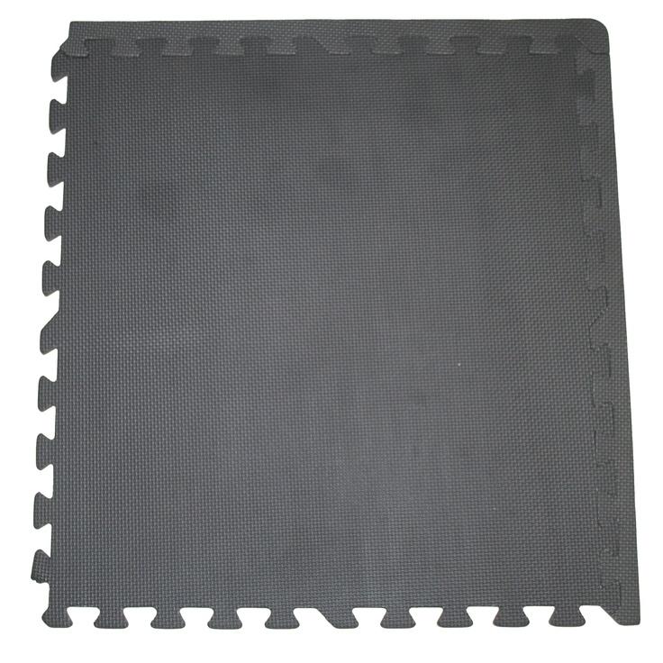 Interlocking Solid Black Foam Floor Mats 4 Pack Fm12b