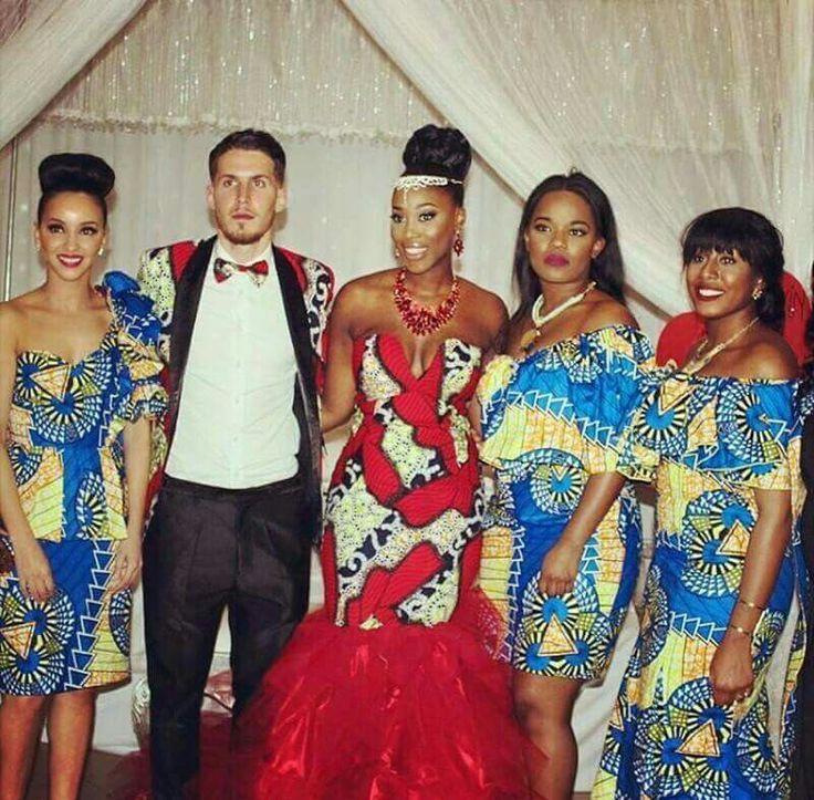 Cinderella Shweshwe Dress: Congolese Wedding Dresses_Wedding Dresses_dressesss