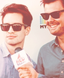 Brendon Urie and Spencer Smith from Panic! at the Disco.