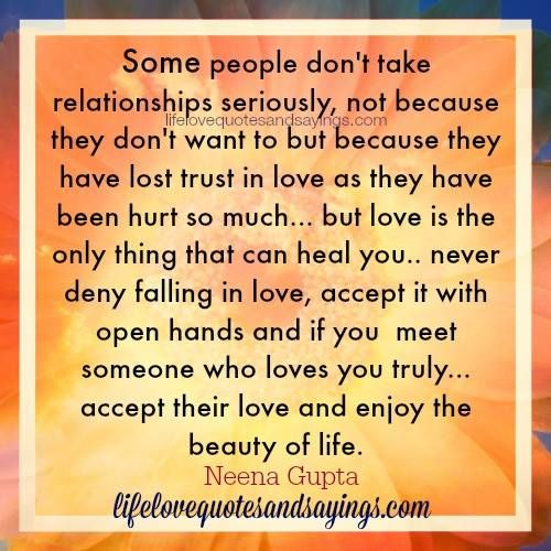 Quotes On Losing Trust In Relationships: Some People Don't Take Relationships Seriously, Not