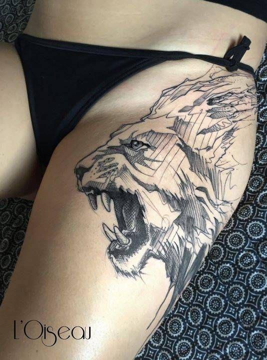 Tattoo réalisé au Faubourg Tattoo Club Tattoo Artist: L'oiseau · Franck Soler