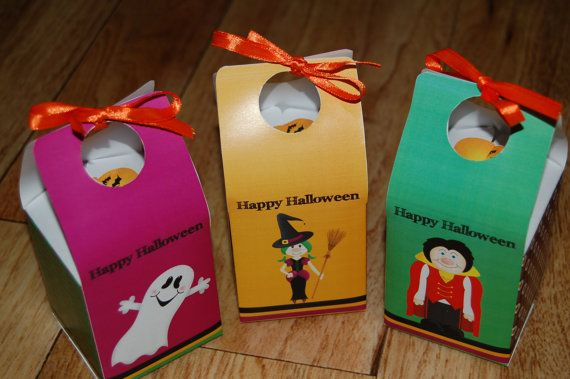Available for INSTANT DOWNLOAD - Set of 3 Cute Halloween Treat Boxes by WendysPrintableParty