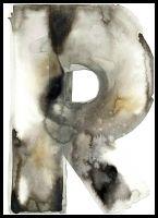 """Vackert Print från Ylva Skarp. Numrerad 650:- Print """"R"""" - Rost"""