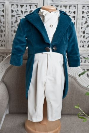 """Funny and elegant christening suit for babies or toddlers: """"Toulouse""""."""