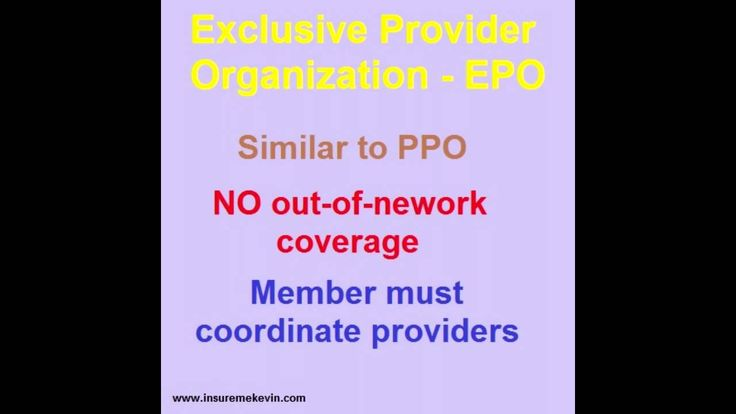 The Basic PPO, EPO & HMO Health Plan Models
