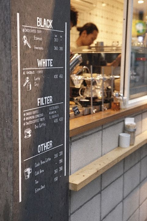 cafe coffee menu