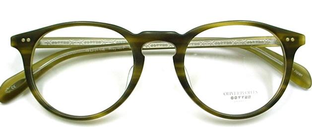 Oliver Peoples Eyeglasses Riley 48 Matte Olive Tortoise