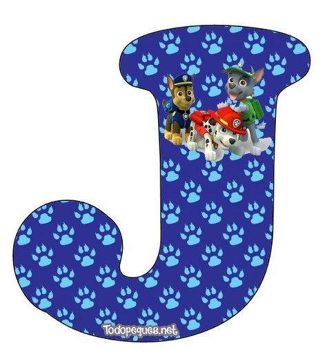 Nuevo modelo de abecedario de Paw Patrol o Patrulla Canina, como más te guste llamar a Ryder y sus cachorros. EL alfabeto contiene completas las letras de la A a la Z, con la figura de Chase, Marsh…