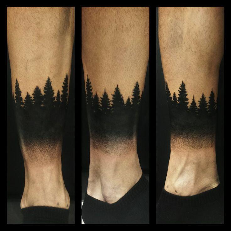 dotwork tree forest by pande-lee.deviantart.com on @DeviantArt
