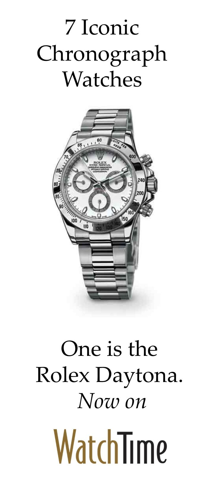 8 best Iconic Chronograph Watches images on Pinterest