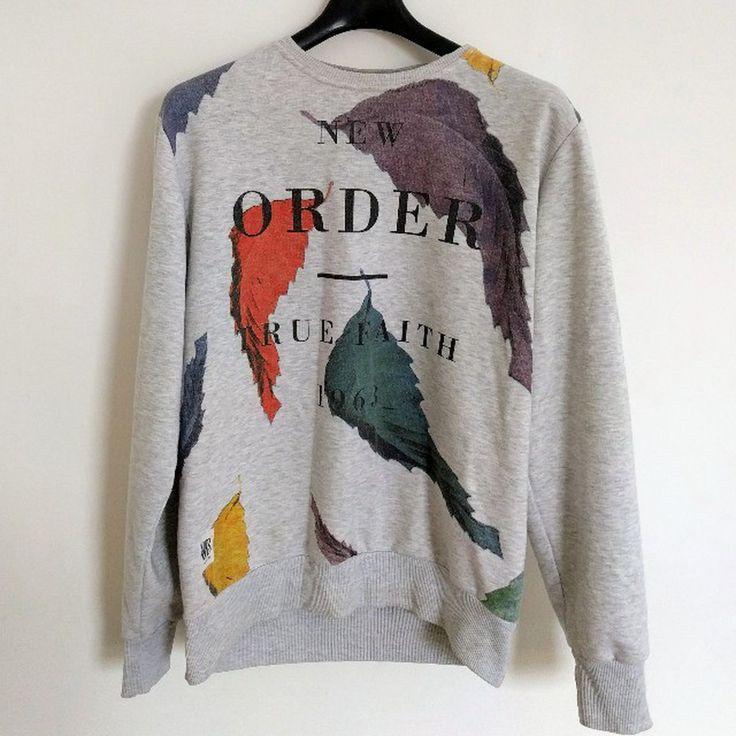 New Order True Faith Sweatshirt // Worn By // large fits medium // supreme quality .. .. #sweatshirt #neworder #80s #truefaith #menswear #jumper #supreme