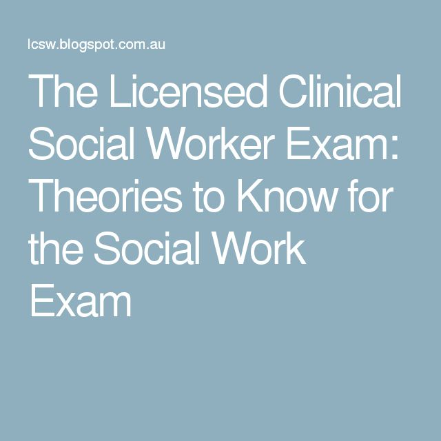 The Licensed Clinical Social Worker Exam: Theories to Know for the Social Work Exam