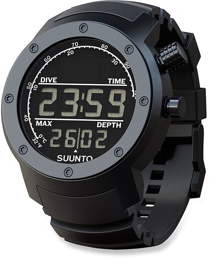 Suunto Elementum Aqua Black Multifunction Diving Watch - Rubber - Free Shipping at REI.com