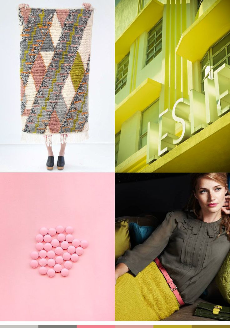 color me monday, mustard and pink, spring colors, spring color palette, color palette inspiration, inspiration, color, mood board, color board