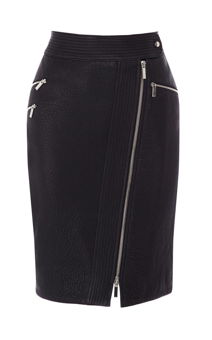 Zip leather pencil skirt | Luxury Women's shop_all | Karen Millen  http://www.karenmillen.com/fashion-hooded-kagool/sale-coats-&-jackets/karenmillen/fcp-product/023JT06532?lng=&ctry=GB