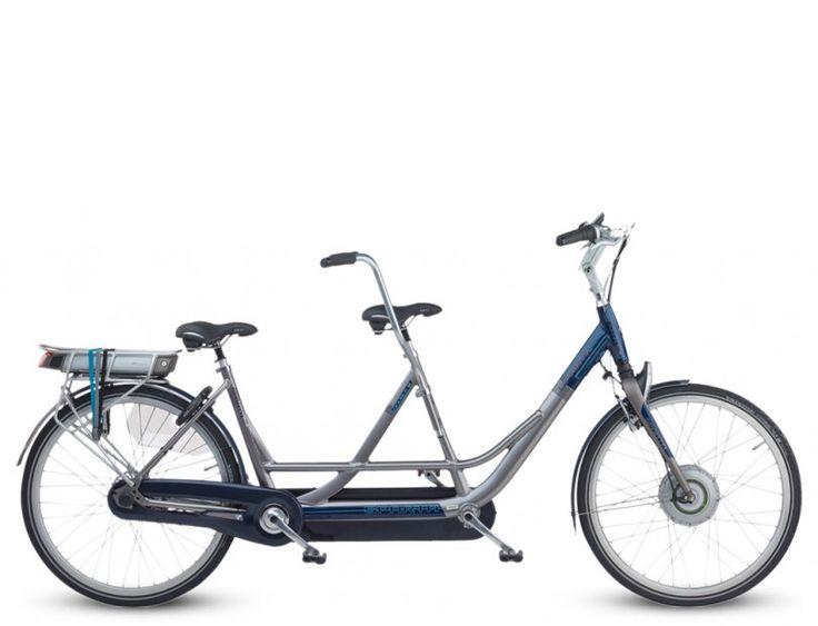 Sparta Double-i - speciale elektrische fiets. Comfortabele elektrische tandem met trapbekrachtiging.