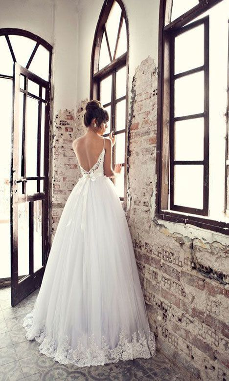Julie Vino low back ball gown wedding dress