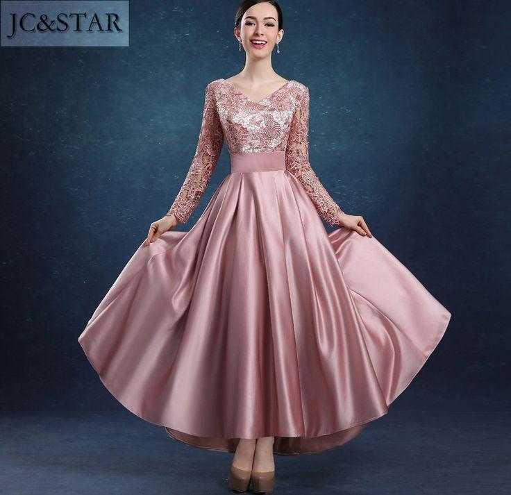 >> Click to Buy << JC&STAR Bridesmaid Dress 2017 Satin Lace Tea-Length Apvestido de la dama de honor Party Gown Wedding Prom Dress for Bridesmaid #Affiliate