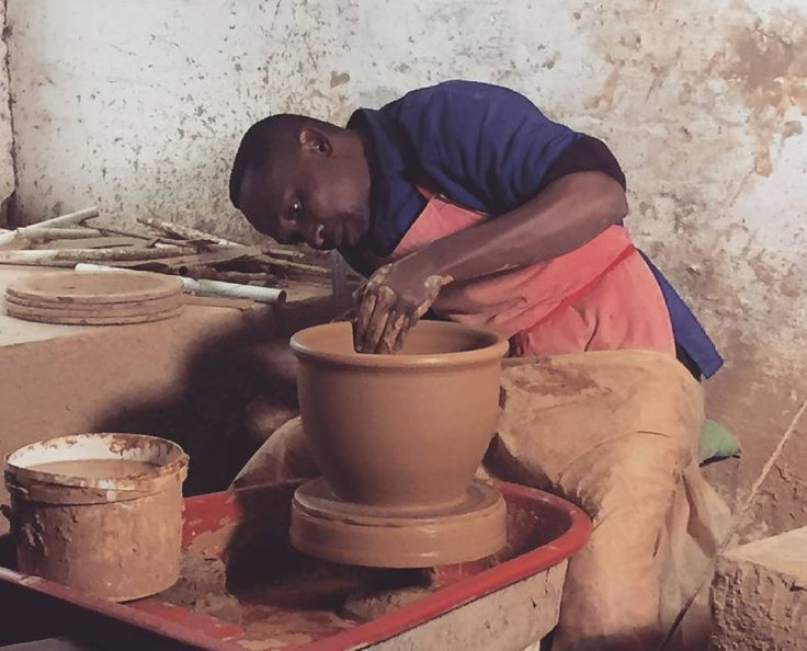 We have incredible talent in the Midlands. Meet Albert a clay potter moulding a vase at Hillford Pottery. #Artists #Potter #TalentInTheMidlands