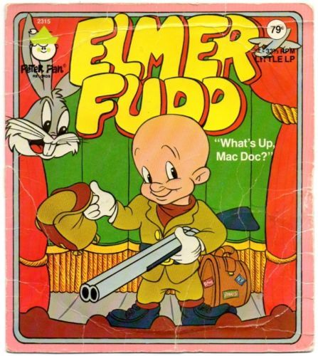 ELMER-FUDD-amp-BUGS-BUNNY-What-039-s-Up-Mac-Doc-1970s-33rpm-Peter-Pan-2315