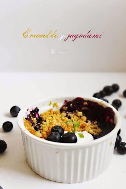 Kreatywnepiny: Crumble z jagodami