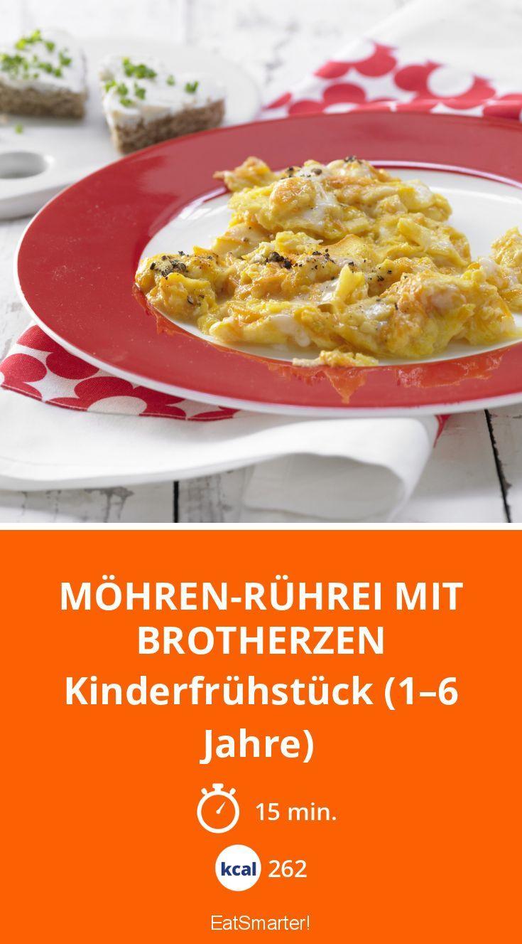 Möhren-Rührei mit Brotherzen
