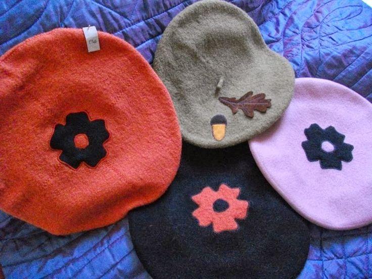 Chapéus em lã fervida e em feltro  http://moda-lolita72.blogspot.pt/