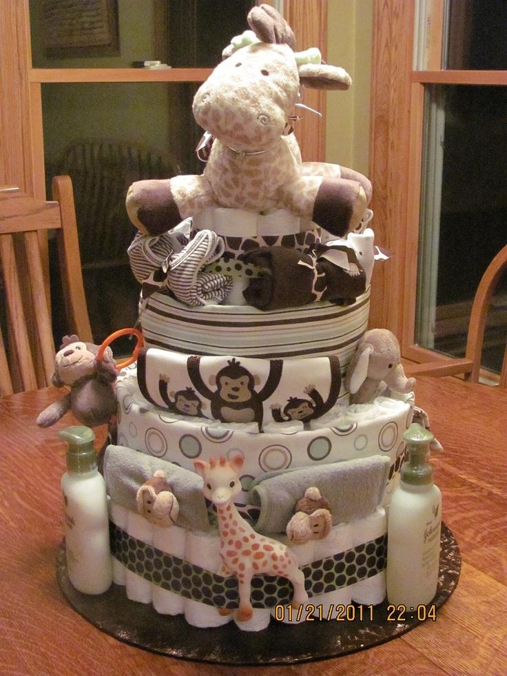 My first diaper cake.  Love it :)