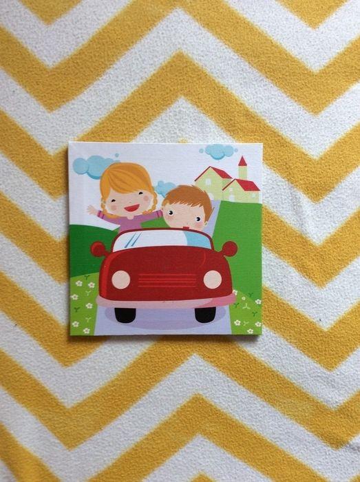 Fabulous BILD Kinderzimmer Poster Leinwand Auto junge M dchen Geschenk bunt Shirt Hose deko mamikreisel de