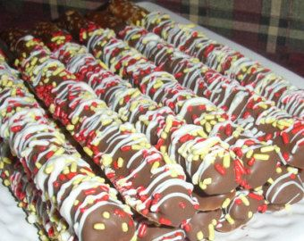 Chocolate Covered Pretzel Rods Custom Colors by MarieGrahams