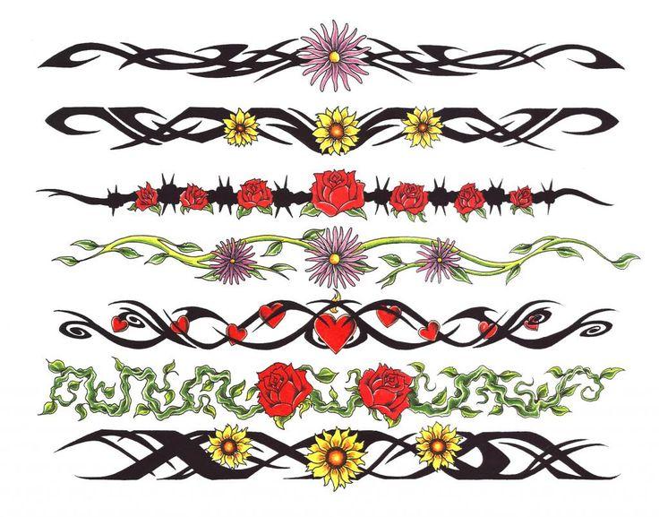 anklet bracelet tattoo flower tattoos pinterest bracelet tattoos anklet bracelet and. Black Bedroom Furniture Sets. Home Design Ideas