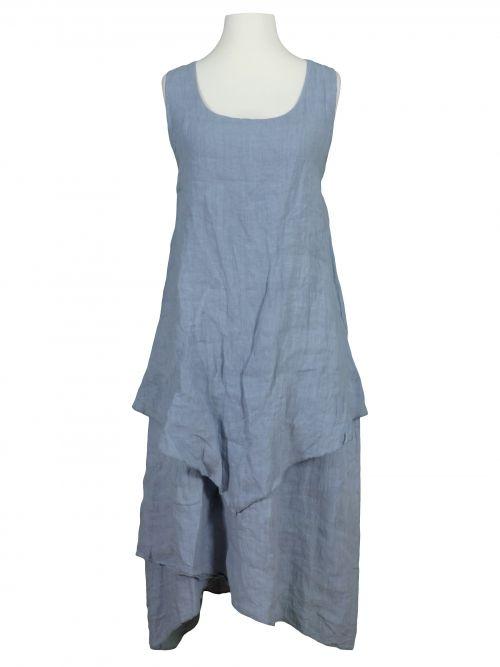 Damen Leinenkleid Lagenlook, blau von Diana bei www.meinkleidchen.de
