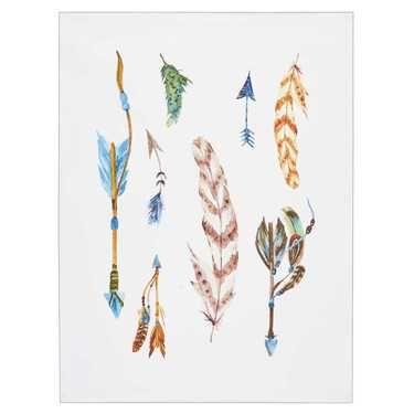 Living Space Watercolour Arrows Canvas Multicoloured