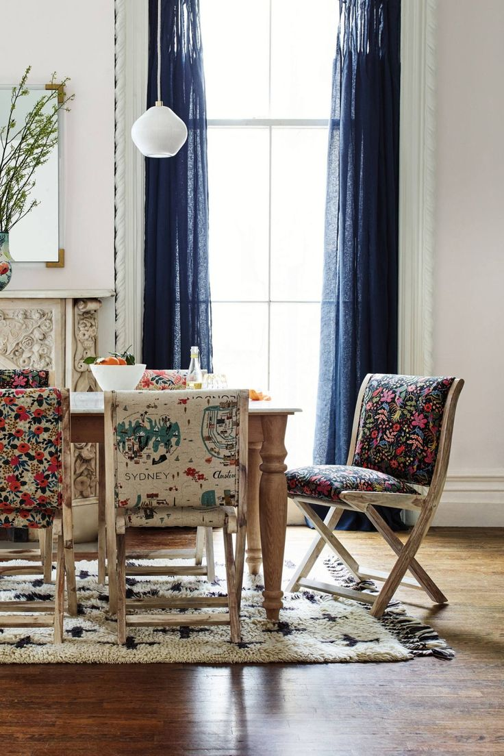 Anthropologie living room - Rifle Paper Co Terai Chair