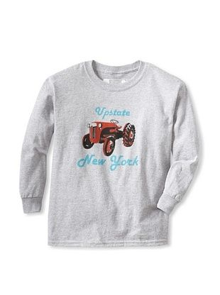 67% OFF Little Dilascia Kid's Upstate Ny Tractor Long Sleeve Tee (Grey)