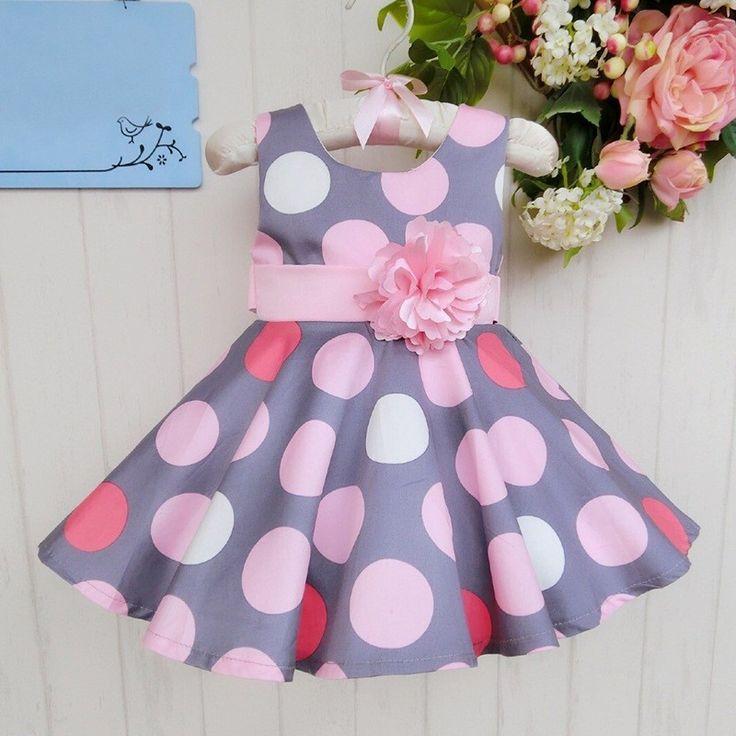 Zomer stijl meisje jurk kids Stip Jurk Kinderkleding Zomerjurk Meisje Prinses Jurken met bloem Meisje mouwloze taart jurk