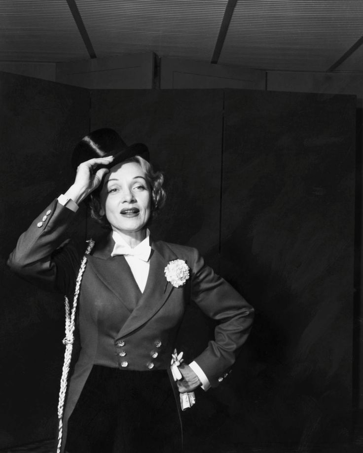 Marlene Dietrich Wearing a Ring Master Costume at a Celebrity Circus Photo | eBay