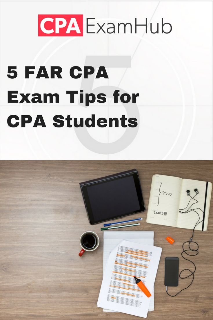 Tips for the FAR section of the CPA Exam.  For more help with the CPA exam, please visit our website cpaexamhub.com