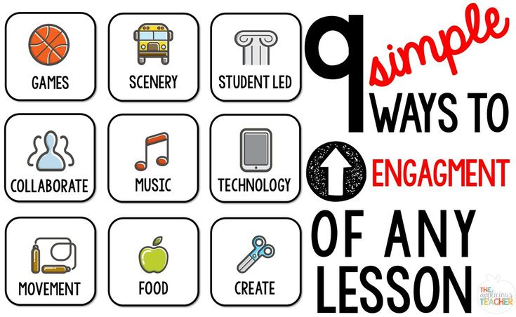 ( Ways to UP Engagement of Any Lesson