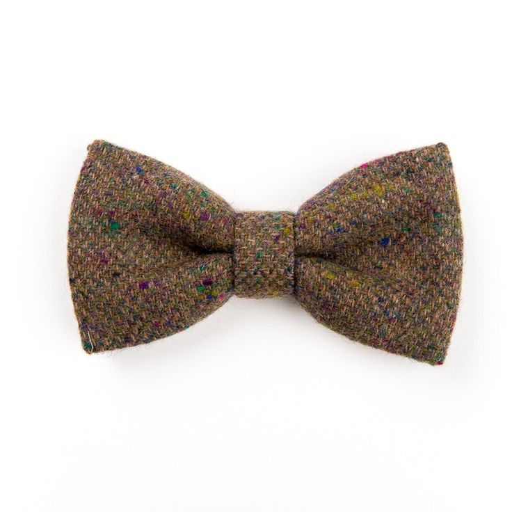 """Sprinkled Slate"" Donegal #tweed #bowtie."