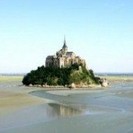 High tides in the next couple of days mean that top Normandy landmark Mont Saint Michel will become a true island again.