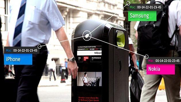 Disso Voce Sabia?: Big Brother: Lixeiras de Londres extraem dados dos telefones dos transeuntes por Wi-Fi!