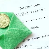 Tooth Fairy receipts. Proof of delivery! Download a template to share with your local tooth fairy consultant on the website. It can be left alongside your coin in a little fairy envelope