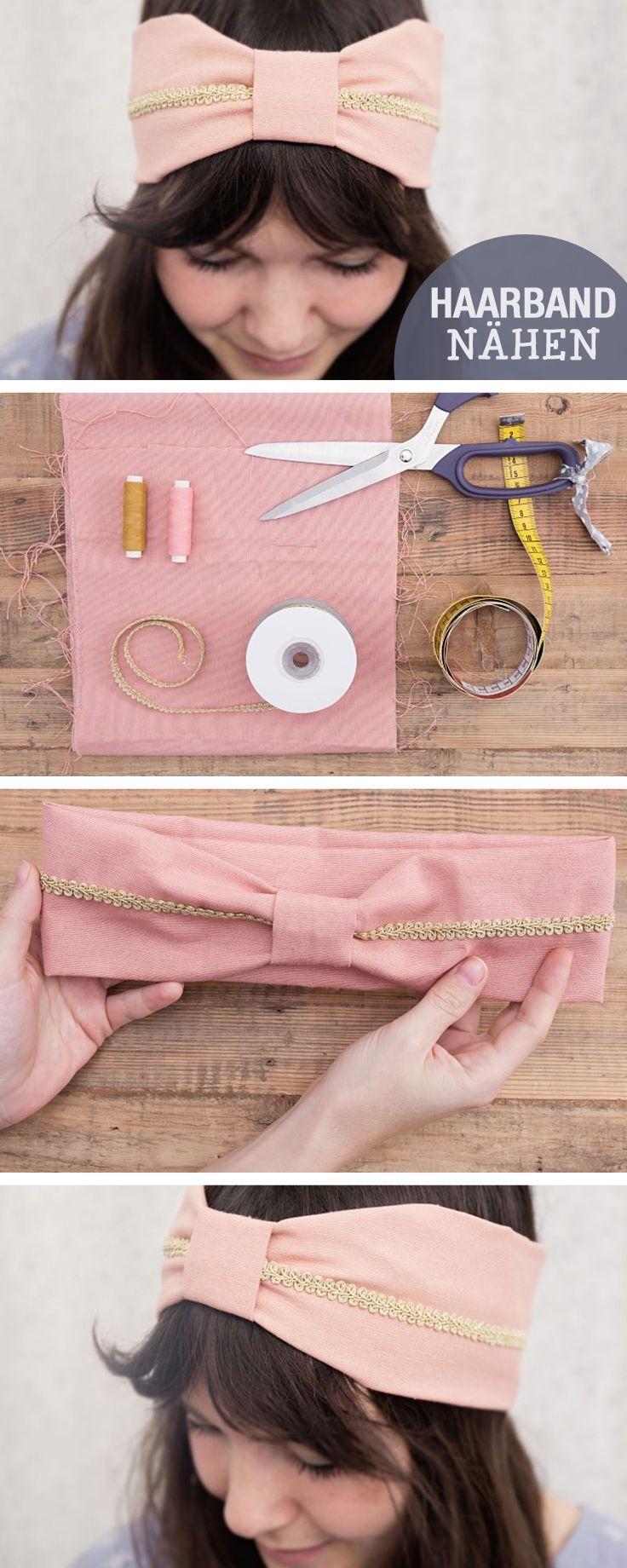 DIY- Anleitung: Stirnband nähen mit Schleife, Haarband selbermachen / diy tutorial: sew a head band, bow via DaWanda.com