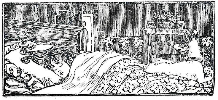 Alle Größen | Ons Jongensblad 1896 vignet slapend meisje | Flickr - Fotosharing!