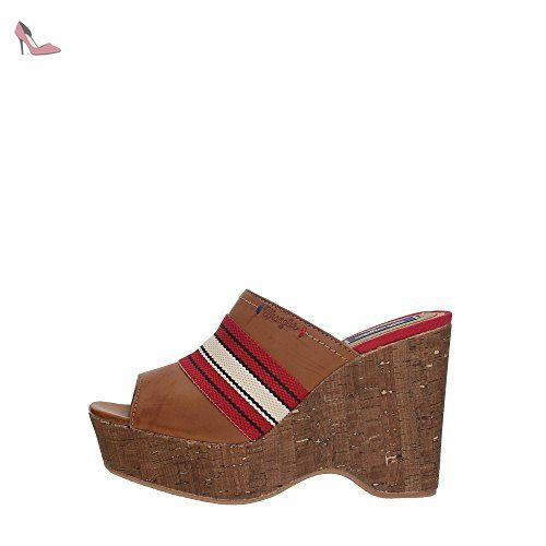 Wrangler WL171671 Mules Femme Marron cuir 37 - Chaussures wrangler (*Partner-Link)